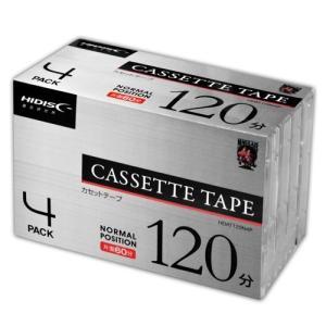 磁気研究所 HDAT120N4P HIDISC 音楽用カセットテープ ノーマルポジション 120分 4巻