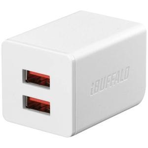 バッファロー BSMPA2402P2WH 2.4A出力 AC-USB急速充電器 2ポートタイプ ホワイト|yamada-denki