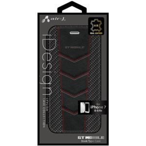 エアージェイ(air-J) AC-P7-GT3 iPhone7/6/6s専用GT MOBILE本革手帳型ケース|yamada-denki