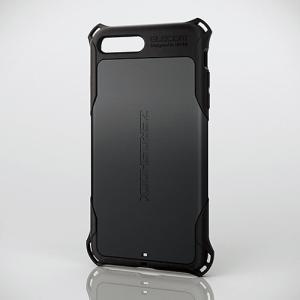 エレコム PM-A17LZEROBK iPhone 8 Plus用ZEROSHOCK/スタンダード ブラック|yamada-denki