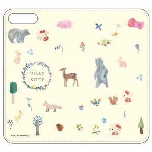 グルマンディーズ SAN-759KTA iPhone 8 Plus用 サンリオキャラクターズ iPhone7sPlus/7Plus対応フリップカバー  ハローキティ|yamada-denki