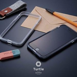 トリニティ iPhone 8/7 Turtle Bumperアルミニウムバンパースペースグレイ TR-IP174-TTBA-SG|yamada-denki