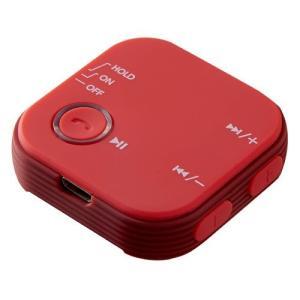 グリーンハウス GH-BHRC-RD オーディオレシーバー Bluetooth4.1 クリップ付 レッド|yamada-denki