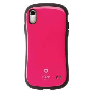 Hamee iFace FC Standard HPK iPhone XR用ケース 耐衝撃 ホットピンク yamada-denki