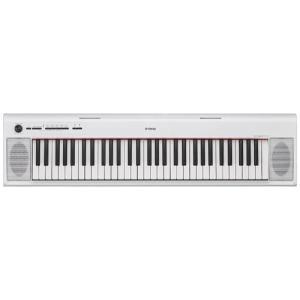 ヤマハ NP-12WH 電子キーボード 「piaggero(ピアジェーロ)」 61鍵盤 ホワイト&l...