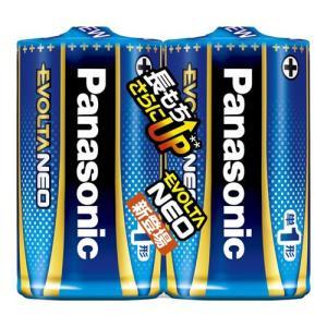 パナソニック LR20NJ/2SE 単1形乾電池 「エボルタネオ」 2本パック<br>0...