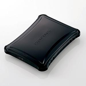 エレコム ELP-ZS010UBK ZEROSHOCKハードディスク 1TB ブラック|yamada-denki