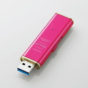 エレコム MF-XWU332GPND USB3.0対応スライド式USBメモリ 「Shocolf」 ラズベリーピンク 32GB|yamada-denki