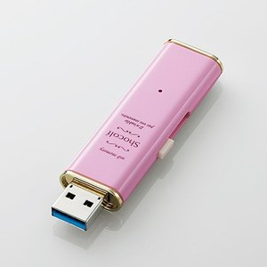 エレコム MF-XWU332GPNL USB3.0対応スライド式USBメモリ 「Shocolf」 ストロベリーピンク 32GB|yamada-denki