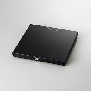 エレコム LDR-PVA8UCLBK Type-C搭載ポータブルDVDドライブ書込 ブラック|yamada-denki