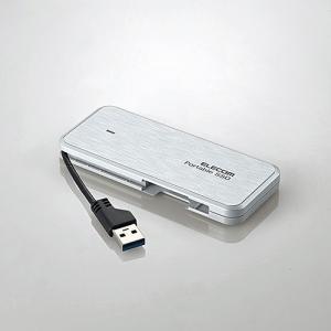エレコム ESD-EC0240GWH ケーブル収納型外付けポータブルSSD 240GB ホワイト|yamada-denki