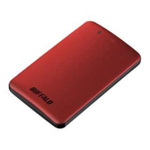 バッファロー SSD-PM240U3A-R 外付けSSD パソコン用 レッド 240GB