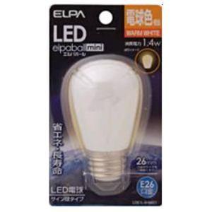 ELPA LDS1L-G-G901 LED電球 「サイン球形」(電球色・口金E26) yamada-denki