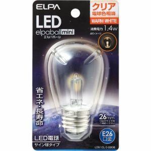ELPA エルパ LED電球 「エルパボールミニ」(サイン球形/電球色相当・口金E26)  LDS1CL-G-G906 yamada-denki
