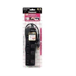 パナソニック WHS25349BP  ザ・タップZ 4コ口 3m ブラック ACアダプター対応|yamada-denki