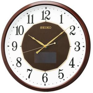 セイコークロック SF241B ハイブリッドソーラー電波掛時計  茶メタリック塗装|yamada-denki
