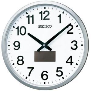 セイコークロック SF242S ハイブリッドソーラー電波掛時計  銀色メタリック塗装|yamada-denki