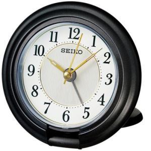 セイコークロック QQ637K 目覚まし時計  黒メタリック塗装|yamada-denki