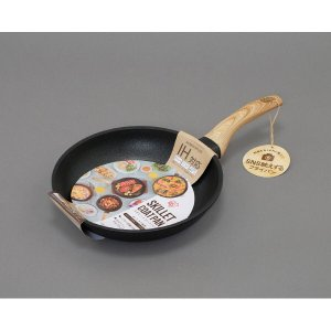 アイリスオーヤマ SKL-24IH スキレットコートパン 24cm 片手 IH対応|yamada-denki
