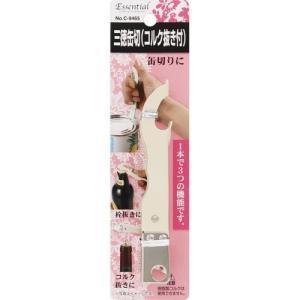 エッセンシャル 三徳缶切(コルク抜き付|yamada-denki