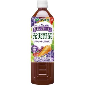 伊藤園 野菜・果汁ミックスジュース PET 充実野菜ブルーベリー 930g