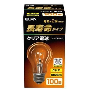 朝日電器 L100V95W-C ELPA(エルパ) 長寿命クリア電球 (全光束1440lm /クリア 口金E26) yamada-denki