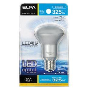 ELPA(エルパ)  LDR4D-H-E17-G610  LED電球 30W形 E17口金 昼光色 屋内用 ミニレフ球|yamada-denki