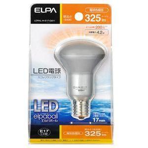 ELPA(エルパ)  LDR4L-H-E17-G611  LED電球 30W形 E17口金 電球色 屋内用 ミニレフ球|yamada-denki