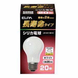 ELPA LW100V19W-W 長寿命シリカ電球 E26 19W形 100V ホワイト yamada-denki