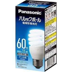 パナソニック EFD15ED11E 電球形蛍光灯 「パルックボール」(電球60WタイプD形・クール色)|yamada-denki
