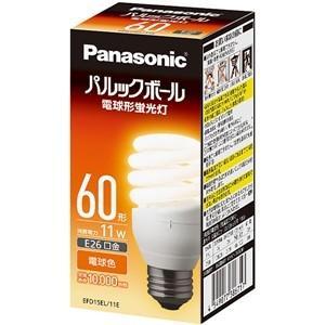 パナソニック EFD15EL11E 電球形蛍光灯 「パルックボール」(電球60WタイプD形・電球色)|yamada-denki