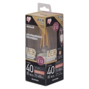 アイリスオーヤマ LDC4L-G-E12/D-FC LEDフィラメント電球 シャンデリア球タイプ 40W形相当 電球色|yamada-denki