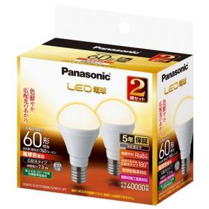 パナソニック LDA7LGE17K60ESW22T LED電球 7.0W 2個セット(電球色相当)|yamada-denki