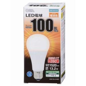 オーム電機 LDA13L-G AG5A LED電球 100W相当 E26 電球色 全方向 密閉器具対応|yamada-denki