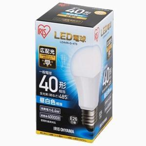 アイリスオーヤマ LDA4N-G-4T5 LED電球 一般電球形 485lm(昼白色相当) ECOHILUX|yamada-denki