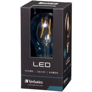 三菱ケミカルメディア LDA4R-G/FCV1 調光器非対応LED電球 クリアー 「バーベイタム」(一般電球形・全光束420lm/電球色相当・口金E26)|yamada-denki