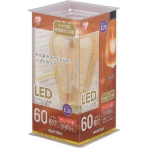 アイリスオーヤマ LDF7C-G-FK LEDフィラメント電球 E26口金 T形 60形相当 キャンドル色相当|yamada-denki