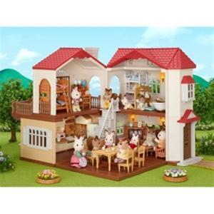 エポック社 シルバニアファミリー 赤い屋根の大きなお家(ハ-48)シルバニアファミリー|yamada-denki