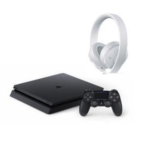 【お買い得セット】PS4ジェットブラック500GB CUH-2200AB01+ワイヤレスサラウンドヘ...