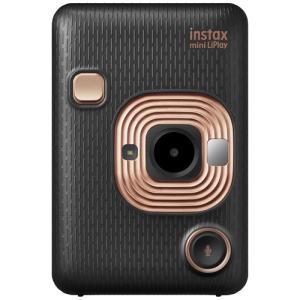 富士フイルム INSMINIHM1ELEGANTBLACK ハイブリッドインスタントカメラ instax mini LiPlay 「チェキ」 エレガントブラック