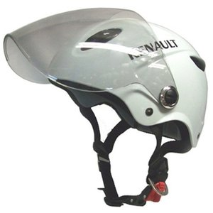 石野商会 RN−666B RENAULTシールド付きハーフヘルメット RENAULTMOTORCYCLE 57cm〜60cm未満 ホワイト|yamada-denki