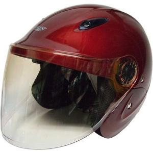 石野商会 MAX−207B セミジェットヘルメット MAXbikers 57cm〜60cm未満 キャンディレッド|yamada-denki