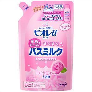 花王 ビオレu すべすべバスミルク ミルクローズの香り つめかえ用 480ml(入浴剤) 【日用消耗品】|yamada-denki