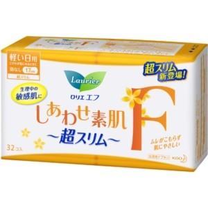 花王 ロリエ エフ しあわせ素肌超スリム 軽い日用 羽なし 32コ入|yamada-denki