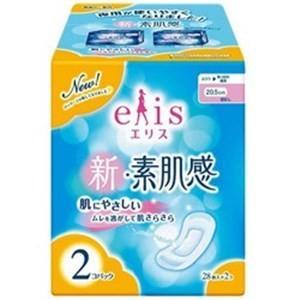 大王製紙 【elis(エリス)】新・素肌感 ふつう-多い日の昼用 羽なし 28枚入×2個パック