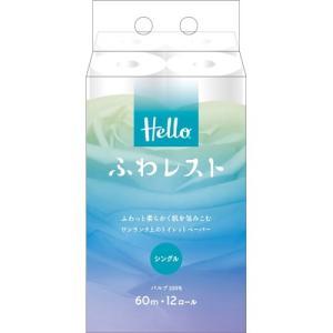 ユニバーサル・ペーパー ハロー ふわレストトイレットペーパー シングル 60m 12ロール yamada-denki