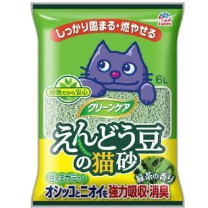 シーズイシハラ アースペット クリーンケア えんどう豆の猫砂 緑茶の香り  (6L)<br&g...