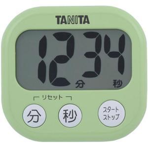タニタ TD-384-GR デジタルタイマー でか見えタイマー ピスタチオグリーン|yamada-denki