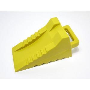 トラック車輪止め/歯止め・ハイプラ製(大)新型 黄色×24個セット