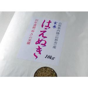 ★平成29年山形県産はえぬき・玄米 一等米 10kg ★プラ...